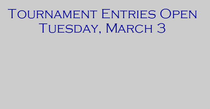 2015 Tournament Entries Banner