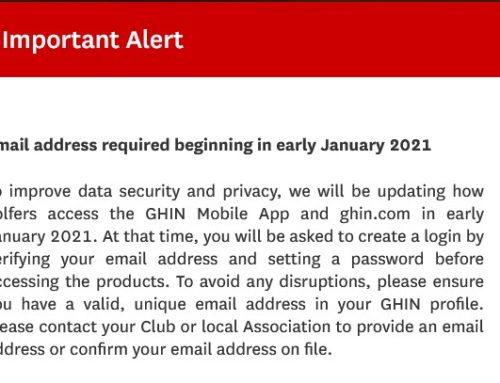 GHIN alert